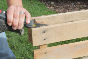 Be sure to check our our post on How To Quickly Disassemble Pallets to get you started!