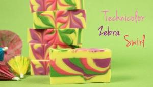 technicolor zebra swirl