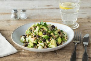 black bean and farro salad